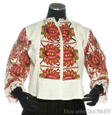 AMAZING hand-embroidered peasant blouse from Croatia ethnic folk costume floral