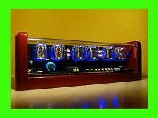 Nixie Clock unique vintage steampunk watch with 6xIN-12 tubes alarm cold war era