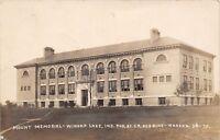 Winona Lake Indiana~Grace College~Mount Memorial Hall~1909 Real Photo~RPPC