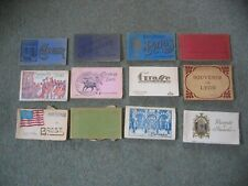 Collection of 12 Vintage Postcard and Souvenir Books - Job Lot - Mainly European