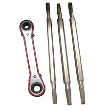 Plumber's 4 Piece Metal Faucet Seat Removal Wrench Ratchet Set