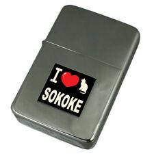 I Love My Cat Engraved Lighter Sokoke