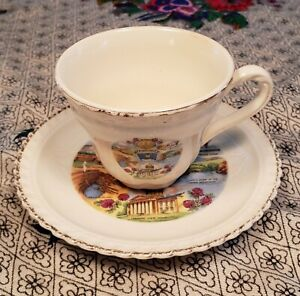 Lovely Little Vintage State of Vermont Souvenir Collector's Tea Cup & Saucer