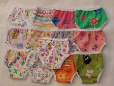 3 Pair Print Panties fit American Girl 18 inch Size Doll Clothes