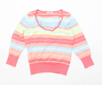 George Womens Size 14 Striped Cotton Blend Multi-Coloured Top (Regular)