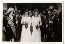 Mariage famille bedeaux parvis demoiselles d'honneur photo ancienne an. 1930 40