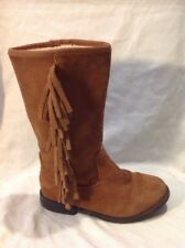 Girls Next Brown Suede Boots Size 11