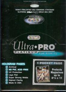 "(100) Ultra Pro 8 1/2 x 11"" Magazine Size 1 Pocket Pages"