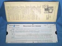 Vintage HP Hewlett Packard Measurement Error Calculator 1960's Slide Rule