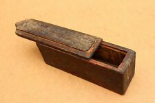 Old Antique Primitive Wooden Wood Hand Crafted Slate Pencils Box School 19th