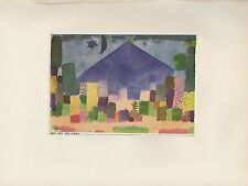 """1955 Vintage PAUL KLEE """"THE NIESEN"""" MOUNTAIN LANDSCAPE COLOR Plate Lithograph"""