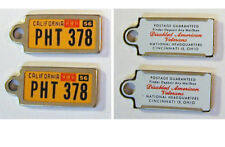 Pair of 1961 California DAV Keychain License Tags – Disabled American Veterans