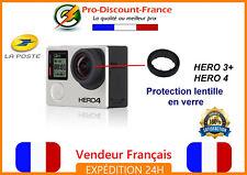 1 Protection lentille pour GOPRO HERO 3 3+ et 4 Black en verre FRANCE accessoire