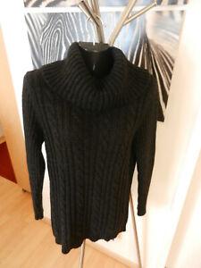 warmer Rollkragen Pullover mit Wolle und Alpaca antrazit Gr. L/40