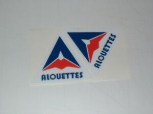 CFL MONTREAL ALOUETTES MINI SIZE FOOTBALL HELMET DECALS
