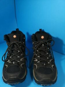 Merrell Moab 2 Mid GTX Mens Walking Boots Black /Grey size uk 10 eur 44 used