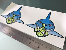 Rossi Misano Shark DECALS STICKERS (120mm x 100mm) X2