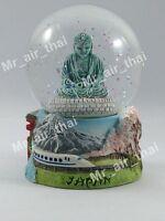 Vintage Snow Globe Water Art Glass Paper Weight 3D Resin Japan Souvenir Gift 002
