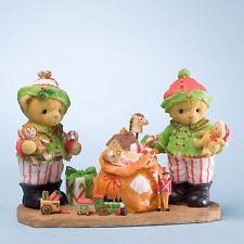 Cherished Teddies 2012 Elf Series 6th Figurine Stuart and Alan 4023653