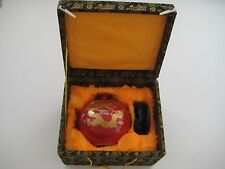 Beautiful Good Luck Decorative Red/Gold Tone Piece New in Beautiful Box