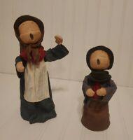 Vintage Christmas Carolers Paper Mache Figurines Set 02 Hand Made