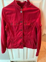 RALPH LAUREN Women's Red Denim Cotton Snap Button Up Jean Jacket Size Medium