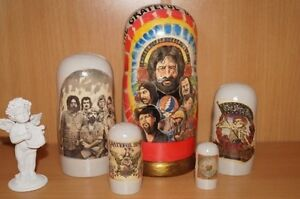 """Grateful Dead FAMOUS Matryoshka nesting russian doll stacking 5pc """"7 type 2"""