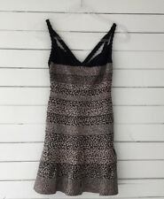 AUTHENTIC NWT 'Herve Leger' 'Nell' SZ SM Aline Black And Cheetah Cocktail Dress