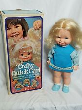 Cathy Quick Curl Doll Mattel 7901 Original Box And Doll No Accessories Vintage