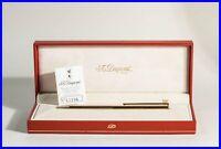 Extra feiner S.T. DUPONT Paris Kugelschreiber Nadelstreifen Design Clip BOXED