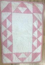 Vintage Handmade Cotton Doll Quilt