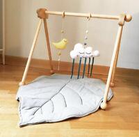 Baby Play Gym Monstera Crawling Mat Game Activity Leaf Cotton Rug Nursery Decor