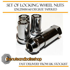 Tuner Silver Locking Wheel Nuts 12x1.25 Bolts Tapered For Infiniti QX60 13-19