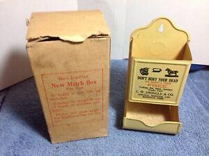1937 Nebraska Rendering match holder in box