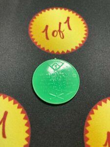1960 Armour Hot Dog Coin Johnny Antonelli Green New York Giants GF11