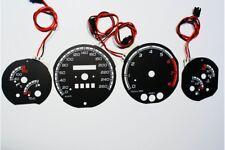 Fiat Coupe glow gauge plasma dials tachoscheibe glow shift indicators MPH KMH