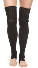 Toesox Womens Black Sasha Leg Warmers One Size 7618