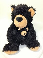 Creature Comforts Bear Country USA Mother & Baby Black Grizzly Bears Hugs Plush