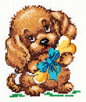 Cross Stitch Kit There is happiness (dog) art. 18-47