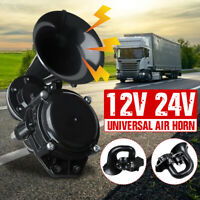Loud 120dB Single Trumpet Snail Air Horn For Car Truck Bus Train 12V 24V  -.