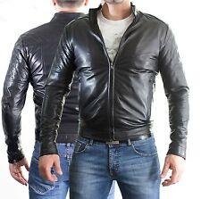 Jacke aus von Leder Herren Mann Leder Jacke Kleidung Blouson Homme Cuir Z2