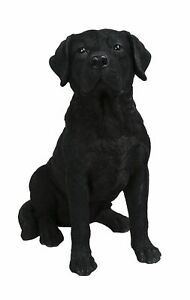 Black Labrador Dog - Lifelike Garden Ornament - Indoor or Outdoor Real Life NEW