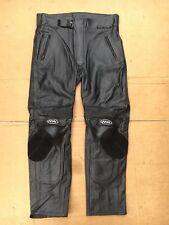 FIGO Mens Race Leather Motorbike / Motorcycle Trousers Size UK 38 Waist (#93)