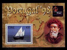 SELLOS TEMA BARCOS PORTUGAL 1998 HB 29 1v.