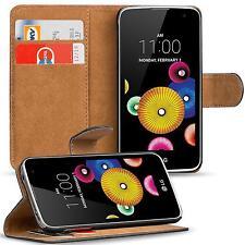 Klapptasche für LG K4 LTE Handy Hülle Case Flip Cover Wallet Schutz Tasche Etui