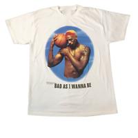 Rare Dennis Rodman Bulls 91 Men Black Cotton Short Sleeve T-Shirt S-4XL KL479