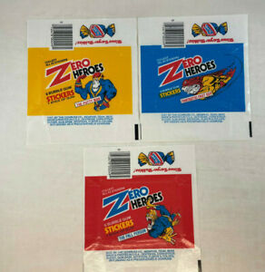 ZERO HEROES Cards 3 Different UNFOLDED WRAPPERS Donruss