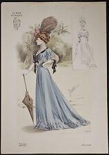 Goubaud - Fashionably Dressed Woman. 1110 - 1904 Le Mode Artistique FOLIO