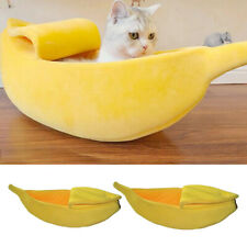 Banana Cat Bed House Peluche Pet Bed Soft Cat Cuddle Warm Bed for Dress