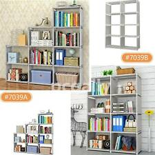 4 Tier 8/9-Shelf Bookcase Storage Shelving Book Wide Bookshelf Furniture Home